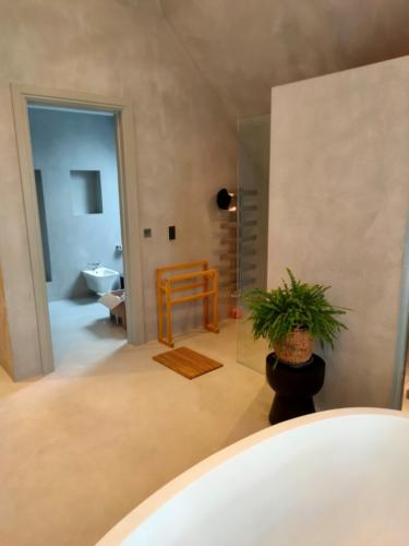 Microcement in a bathroom by SOBO